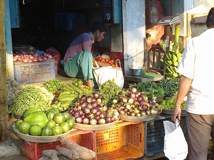 Продают овощи.