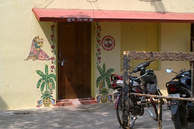 Джаганнатх на стенах домов