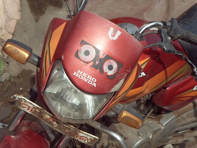 Джаганнатх на мотоцикле