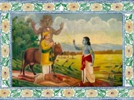 Вишну наказывает царя.