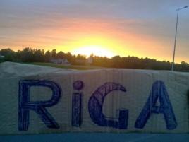 закат на границе Литвы и Латвии